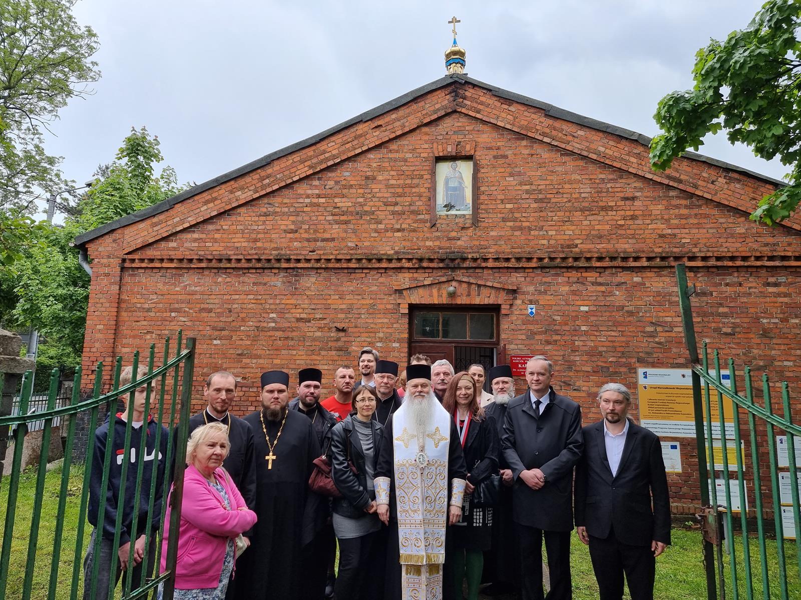 Poświęcenie kopuły na cerkwi w Aleksandrowie Kujawskim