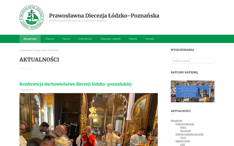 Nowa strona internetowa Prawosławnej Diecezji Łódzko-Poznańskiej