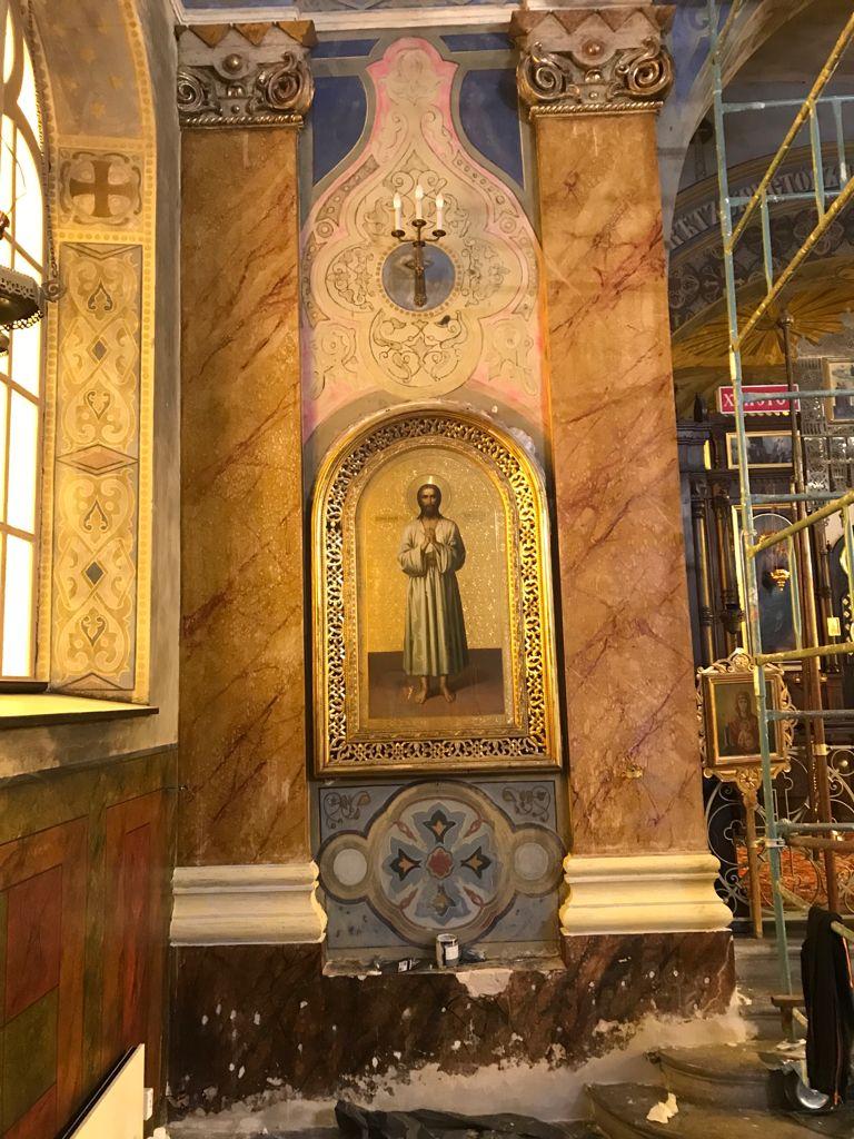 Prace konserwatorskie w cerkwi w Kaliszu